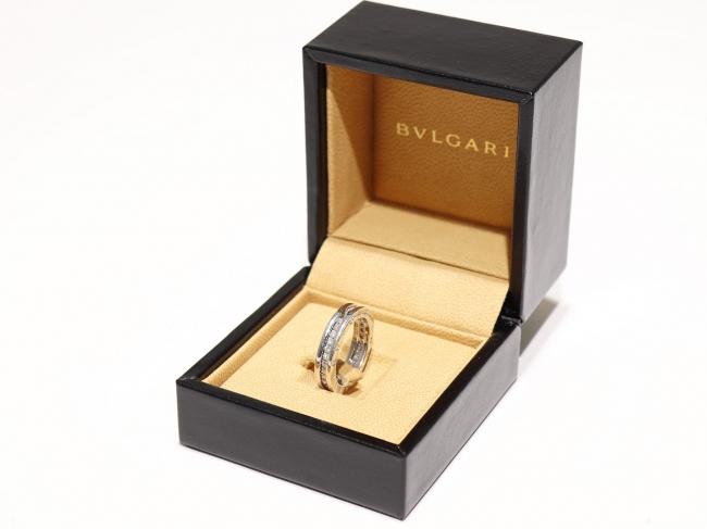 ブルガリ ビー・ゼロワン 1バンドリング K18WG ダイヤモンド(1月限定・査定金額10%UPキャンペーン価格!)