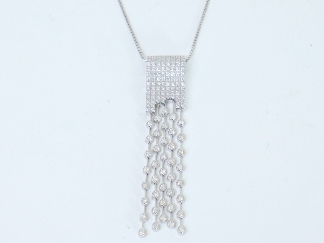 K18ホワイトゴールド ネックレス ダイヤ 1.70カラット(2月限定・査定金額10%UPキャンペーン価格!)