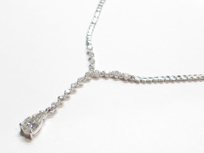 K18WG ダイヤモンド ネックレス 1.011/1.00カラット(4月限定・査定金額10%UPキャンペーン価格!)