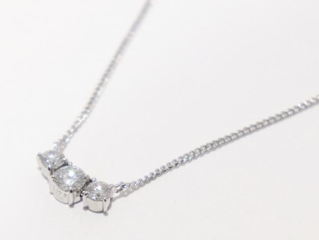 Pt900/Pt850 ダイヤモンド ネックレス 1.073カラット