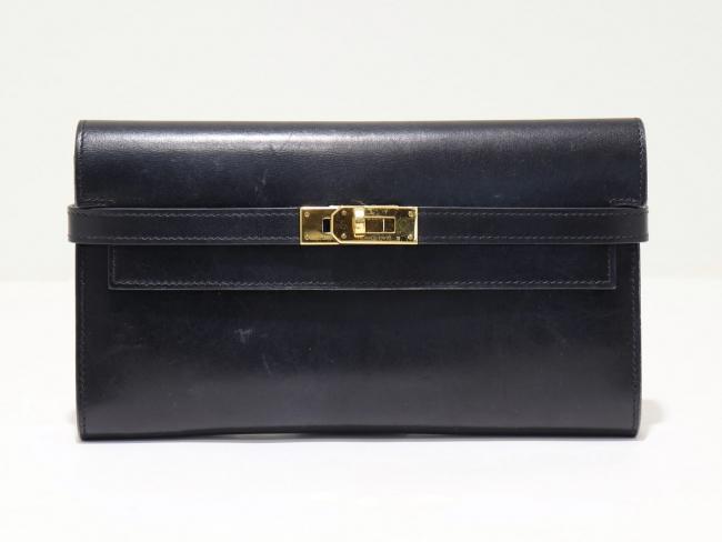 エルメス ケリーウォレット ボックスカーフ ブラック(9月限定・査定金額10%UPキャンペーン価格!)